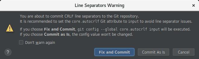 IntelliJ Line Separators Warning